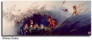 Bambi: Good Morning, Young Prince Includes Dedication Certificate Signed By Marc Davis