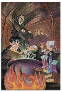 Harry Potter & The Sorcerer's Stone In Potions Class By Fred Bode