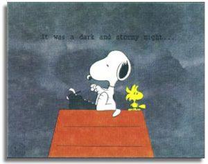 Peanuts: It Was A Dark And Stormy Night